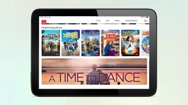 Tablet met homepagina New Faith Network