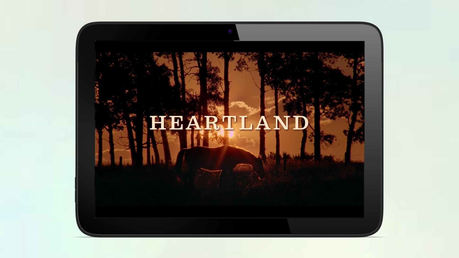 Tablet met videospeler van Heartland