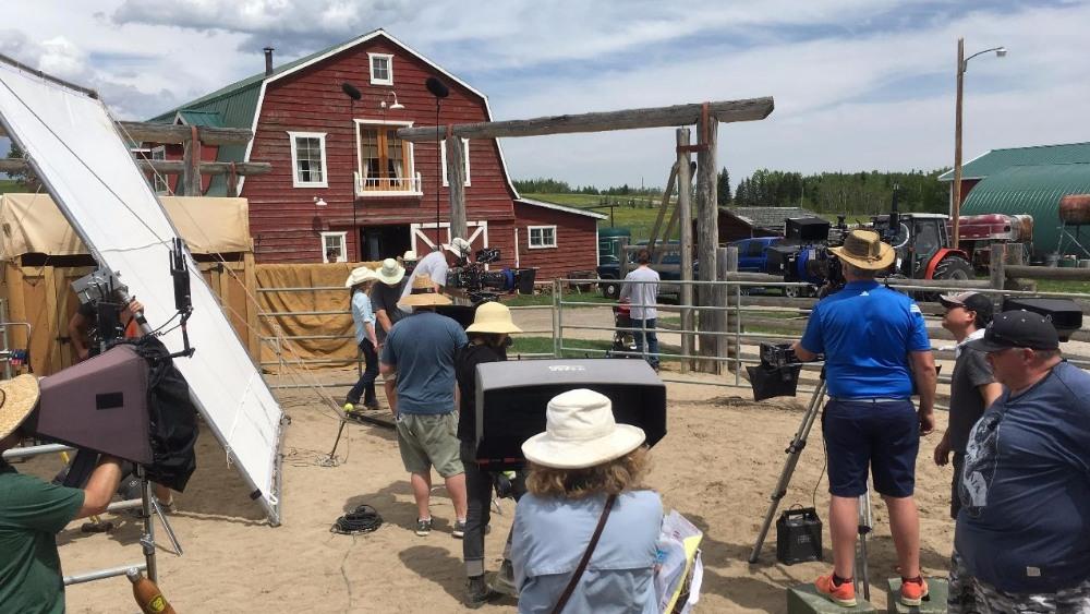 Foto op de set van Heartland