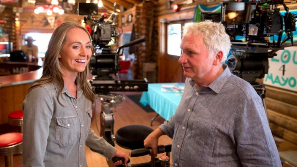 Actrice Amber Marshall met producent Dean Bennett