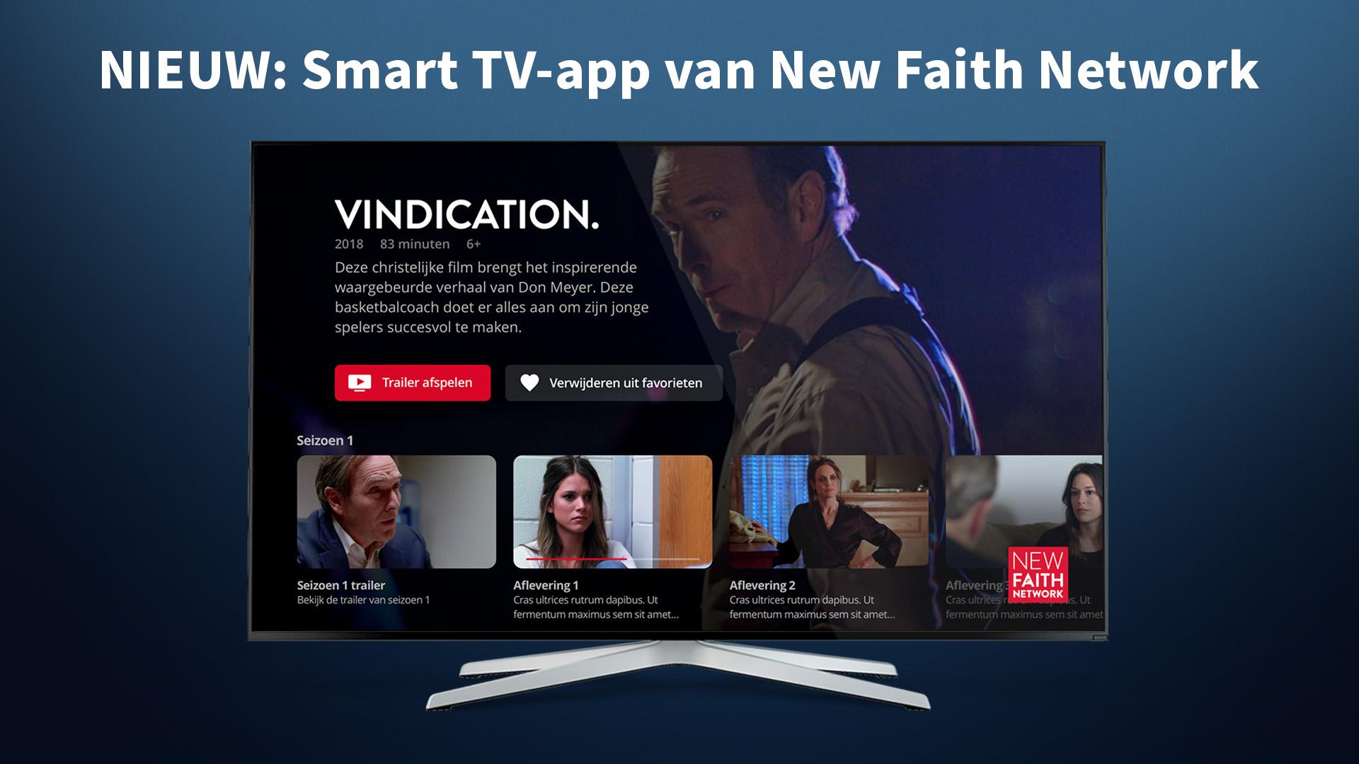 De Smart TV app is gelanceerd.